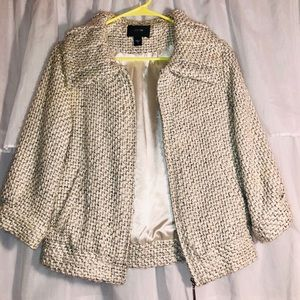 Joes brand White Tweed Jacket- Women Medium